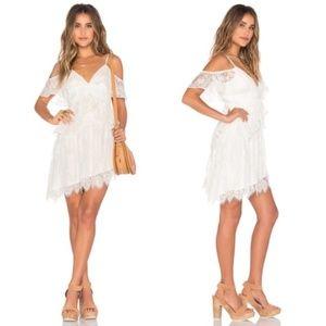TULAROSA Loraine Assymetrical Ivory Lace Dress